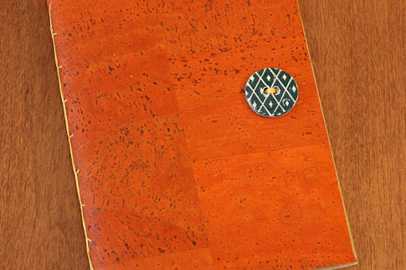 cork softcover blank book
